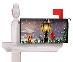 """Evergreen The Gathering,Magnetic Mailbox Cover,18x24 Inches by Ashley. $12.99. All-weather and fade resistant. Fits all standard size mailboxes,the size is: 18""""x24""""; For plastic mailbox, please pick our """"Evergreen Magnetic Mailbox Cover Adapter Kit,17x1.5 Inches"""" or check """"ASIN: B006XF571I"""" in order to use it.. Clings to your mailbox in a snap and fits all standard sized mailboxes. Coated PVC design is backed with full surfact magnet. Includes a set of self-adhesive, ref..."""