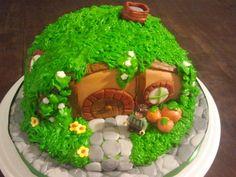 Hobbit House Birthday Cake, i need this Cupcakes, Cupcake Cakes, Kid Cakes, Hobbit Wedding, Hobbit Party, Beautiful Cakes, Amazing Cakes, Hobbit Cake, Movie Cakes