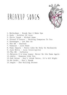 A playlist full of breakup songs to get you through the struggle. Find more great songs from upcoming artists on Panoptic Sounds songs A list of heartbreaking breakup songs - Playlist Music Lyrics, Music Quotes, Music Songs, Song Quotes, Music Tv, Music Stuff, Music Mood, Mood Songs, Saddest Songs