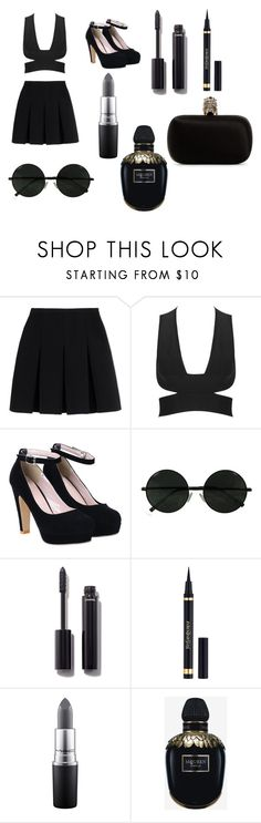 beauty behind the madness by yarendemirci on Polyvore featuring moda, Alexander Wang, Alexander McQueen, Yves Saint Laurent, Chanel and MAC Cosmetics