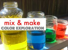 Simple color mixing for kids and toddlers.