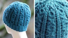 XOXO Cable Knitted Beanie [FREE Knitting Pattern]