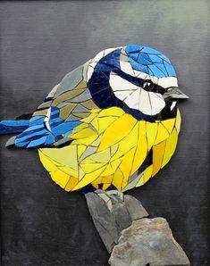 BB MESANGE- mosaic wall art- bird- robin- mosaic bird- slate painting- mosaic- glass painting- cabinet curiosity- mosaic- mosaics- mosaics- mosaics- mosaic artworks- mural- birds of mosaic- wall art- ora mosaics. Mosaic Garden Art, Mosaic Tile Art, Mosaic Artwork, Mosaic Glass, Glass Art, Mosaics, Mosaic Floors, 3d Artwork, Sea Glass