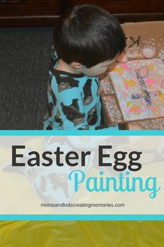 Want something fun to do with your kids Easter eggs this year?  Always have Easter eggs laying around after Easter? Always see Easter eggs in every store and wonder what you could do with them?  Check out this Easter Egg Painting and see how much fun my kids had and I'm sure your kids will have just as much fun. via @https://www.pinterest.com/momsandkidscreatingmemories/