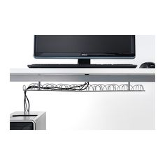 SIGNUM Cable management, horizontal IKEA Collects your electric and computer cables together; makes it easier to keep your work area tidy.