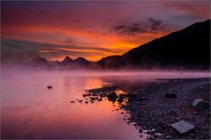 Lake McDonald mist at dawn by Christopher Martin on 500px
