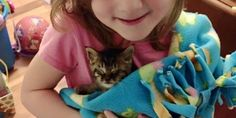 """A 5-year-old girl helped save a tiny tabby kitten who was found on the road. They have been inseparable since. Meet Cyborg the kitten!Courtesy: Laney Van Antwerp-Nava""""A friend called me Friday night to let me know that there was what she believed to be a newborn kitten whose eyes weren't even open y..."""