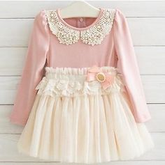 Girls Vintage Lace Dress - Cream and Pink....Stunning! Size 4 NEW!!!!