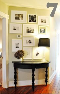 white matted frames_ hall photo wall_7