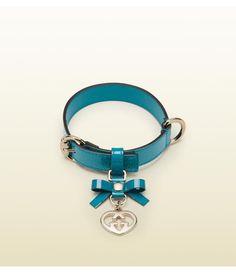 Gucci  leather adjustable dog collar Daisy needs it!!!