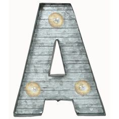 Crystal Art Gallery LED Metal Marquee Letter Light found on Polyvore featuring home, lighting, letters, metal lamp, battery powered lights, battery operated lights, battery operated lamps and battery light