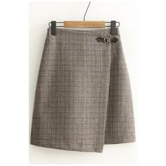 Women's High Rise Plaid Print A-Line Basic Mini Skirt (155 ILS) ❤ liked on Polyvore featuring skirts, mini skirts, mini skirt, plaid a line skirt, brown skirt, high waisted plaid skirt and high waist skirt