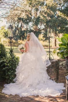 A magical day in Charleston, SC for our real bride. A stunning setting and a beautiful happily ever after bride in Christina Wu. #realbride