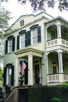 One of our favorite Jones Street homes in Savannah…