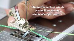 Tutorial: how to sew on cords and ribbons with the BERNINA braiding foot...