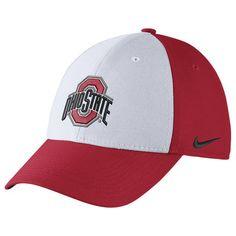 4bc0254fb22 Men s Nike White Scarlet Ohio State Buckeyes Swoosh Performance Flex Hat