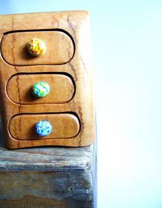 Wooden box bandsaw jewelry recycled timber australian by TommysHut, $250.00