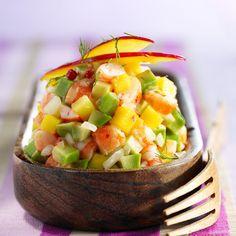 Découvrez la recette Tartare de crevettes, mangue et avocat sur cuisineactuelle.fr.