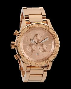 Nixon Watches - Mens 42-20 Chrono Watch in All Rose Gold A037-897-00 Nixon 42-20