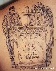 Fallen Soldier Memorial Art | soldier memorial - Tattoo Artists.org Fallen Soldier Memorial, Military Tattoos, Tattoo Artists, Tatting, Memories, Ink, My Style, Ideas, Memoirs