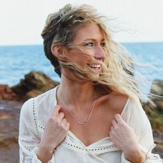 Silver Wave Necklace | Bohemian Gypsy Festval Jewels | Indie and Harper