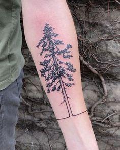western red cedar/mountain tattoo!! #nofilter #lonewolf