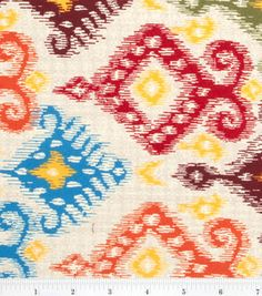Keepsake Calico Fabric- Ikat Large Damask Multi & quilting fabric & kits at Joann.com