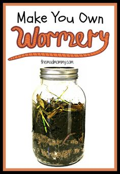 DIY Wormery Project: Make Your Own Wormery! Here is a great way to observe worms and compost at the same time! Make your own wormery this spring!Here is a great way to observe worms and compost at the same time! Make your own wormery this spring! Preschool Science, Science For Kids, Science Activities, Science Projects, Science Experiments, Preschool Ideas, School Projects, Plant Projects, Nature Activities