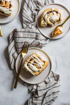 "fullcravings: ""Pumpkin Butter Cinnamon Rolls with Brown Butter Cream Cheese Glaze "" Pumpkin Butter, Food Photography Tips, Brown Butter, Aesthetic Food, Cinnamon Rolls, Fall Recipes, Food Styling, Food Inspiration, Love Food"