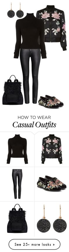 """""""casual outfit"""" by kimberlyn303 on Polyvore featuring 3x1, H&M, BLK DNM, Alexander McQueen, Astley Clarke, Elizabeth and James and black"""