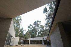 Rural House Design In Concrete Style Architecture From Martin Hurtado Architect   Center Yard