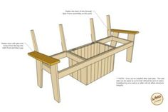 A bench. A cooler. The most amazing Cooler Bench you've ever seen. Check out these free DIY-friendly plans. Backyard Projects, Diy Pallet Projects, Wood Projects, Furniture Projects, Woodworking Bench Vise, Woodworking For Kids, Woodworking Plans, Woodworking Patterns, Woodworking Projects