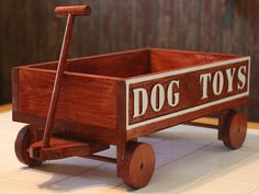 Dog Toy Wagon Wood Toy Box Pet Toy