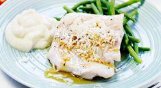Pepparrotsfisk med brynt smör och blomkålsmos