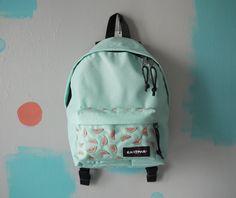Rucksack Backpack, Cute Backpacks, Girl Backpacks, Painting Backpack, Watermelon Mint, Postcard Printing, Custom Bags, Hand Embroidery, Mint