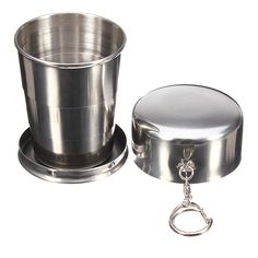 140ml 4oz Stainless Steel Portable Folding Telescopic Travel Cup