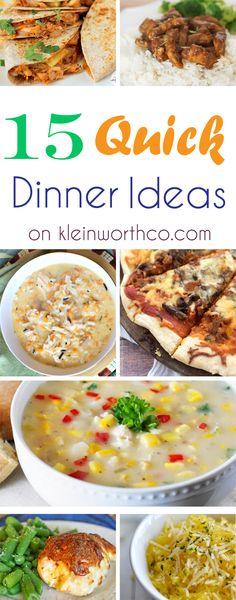 15 Quick Dinner Ideas : Easy Family Dinner Ideas on kleinworthco.com