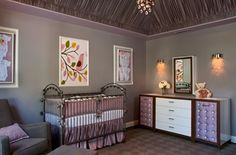 The lavender baby nursery is perfect if you want to give the daughter a feminine air in their room. Paste colors like lilac can be the great decision to go when it comes about the wall treatment. The soothing environment is not only well perceived wit