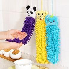 Kitchen Bathroom Office Car Use Cartoon Absorbent Hand Dry Towel Washcloth