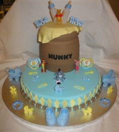 Winnie Pooh baby Shower By Doobie on CakeCentral.com