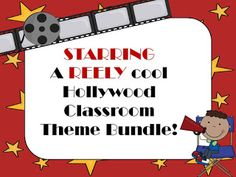 A REELY Great Hollywood Theme Bundle- NOW EDITABLE!