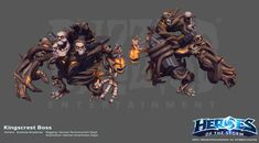 ArtStation - Heroes of the Storm Kingscrest Boss units, Andrew Kinabrew