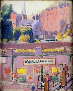 Mornington Crescent, from a Window in Hampstead Road by Spencer Gore