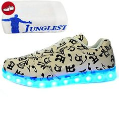 [Present:kleines Handtuch]Weiß 39 EU Sport Schuhe laufende Erwachsene Leucht Unisex Damen weise Winter Herren LED und Leuchtend Paare Freizeitschuhe JUNGLEST mGmYCP