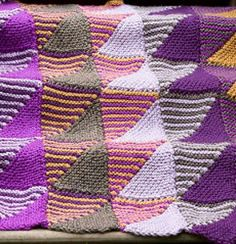 """Mountain Mists Afghan """"New Favorites from Lion Brand: 15 Free Knitting Patterns for Scarves, Afghans and More"""""""