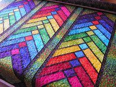 French Braid quilt by Debbie Stanton.