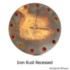 "Industrial Age Wall Clock 14"" diameter by Atlas signs and plaques on Etsy, $184.00"