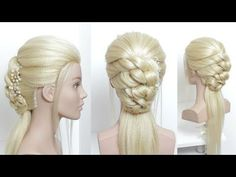 Half Up Half Down Updo For Prom, Wedding. - YouTube #hairstylesforprom