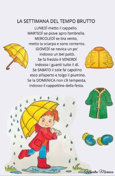 MAESTRA MARINICA: PREGRAFISMO: I GIORNI DELLA SETTIMANA Activities For Kids, Crafts For Kids, Italian Lessons, Canti, Italian Language, Learning Italian, Holidays And Events, Tweety, Fairy Tales