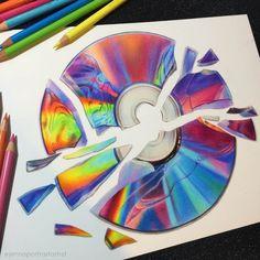 Very Vivid Colors in Varied Drawings – Art Sketches Colored Pencil Artwork, Color Pencil Art, Pencil Art Drawings, Cool Art Drawings, Realistic Drawings, Colorful Drawings, Art Drawings Sketches, Disney Drawings, Pencil Sketching